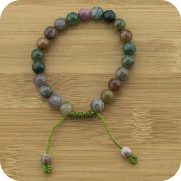 Faceted Ocean Jasper Yoga Beads Bracelet