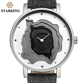 STARKING International Brand Minimalist Watch Swiss Design Men Watch XFCS Leather Band Unisex Quartz Sport Watch 3ATM Waterproof