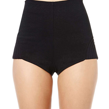 High Waisted Shorts Black - The Else