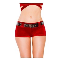 Sexy Naughty List Belted Holiday Shorts