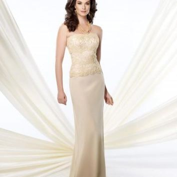Montage by Mon Cheri - 214942 Long Dress In Bisque