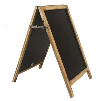Vintage Free Standing Wood Frame Two-Sided Chalkboard - 19-1/2-in