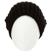 Chunky Ribbed Slouchy Beanie by Charlotte Russe