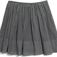 MADEWELL Gingham Shirred Skirt