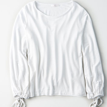 Don't Ask Why Pullover Crew Sweatshirt, White