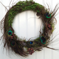 PEACOCK Christmas Wreath