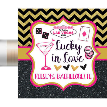 Las Vegas Bachelorette Lip Balm | Custom Chapstick | Wedding Favors | Bridal Party | Vegas Bachelorette | Lip Balm | Hangover Kit