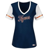 Majestic Detroit Tigers Curveball Babe Tee - Women's Plus, Size: