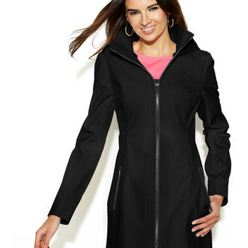 Jessica Simpson Hooded Zip-Front Coat