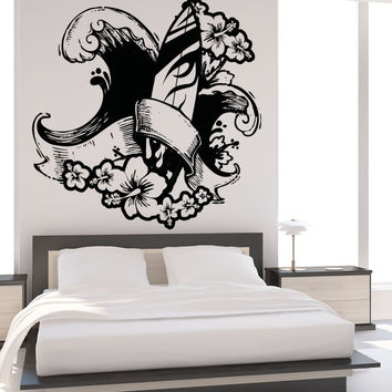Vinyl Wall Decal Sticker Surf Hawaii #OS_AA1246