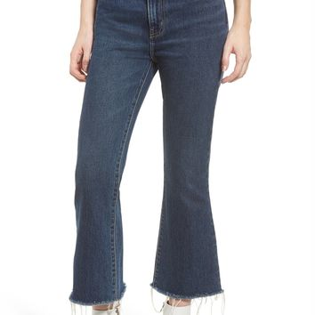 Current/Elliott The High Waist Kick Jeans (Peacenik with Raw Hem) | Nordstrom
