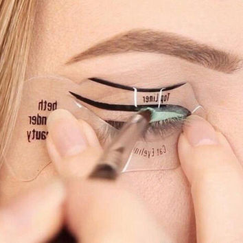 Magic Eyeliner Stencil Model Beginner Eye Makeup
