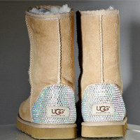 Toddler, Little Kid, and Youth UGG Sheepskin Boots with Swarovski Crystal Embellishment - Winter/Holiday 2013