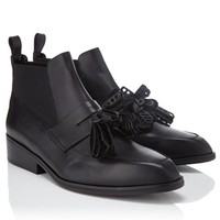 Black Leather Xoda Tassel Boots | Robert Clergerie | Avenue32
