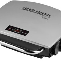 George Foreman GR0072P G-Broil Electric Nonstick Countertop Grill (Silver)