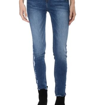Flying Monkey HR Side Distress Fray Skinny