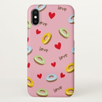 Claire Blossom Love donut Cute iPhone X Case