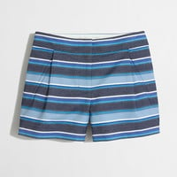 Factory textured-stripe short : 3"