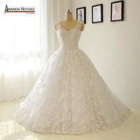 Straps Stunning Lace Wedding Dress Wedding Gown