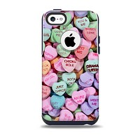 Candy Worded Hearts Skin for the iPhone 5c OtterBox Commuter Case