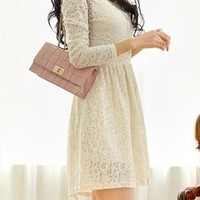 New ivory lace spring skater dress from zamong-boutique
