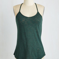 Mid-length Peace and Kayak Top in Pine by ModCloth