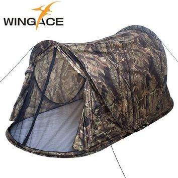 WINGACE Outdoor Camping Pop Up Tent Ultralight Portable Camouflage Automatic Single tent Hunting Fishing Beach Hiking Tents