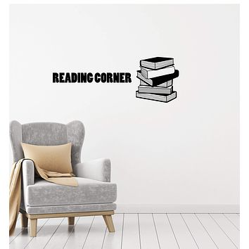 Vinyl Wall Decal Reading Corner Library Book Lover Room Decor Art Stickers Mural (ig5706)