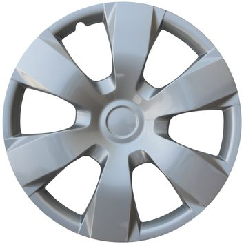 """Cover Trend (Set of 4) Hub Cap ABS Silver 16"""" Inch Rim Wheel Skin Cover Center 4 pc Set Caps Covers"""