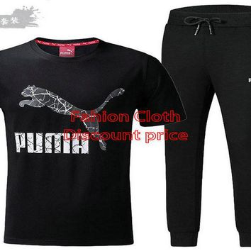 Puma Fashion Trend Short Sleeve Suit L-4XL 9032 Black