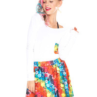 Girls Buttons Skater Skirt