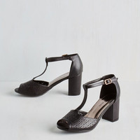 ModCloth Dance Floor Diva Heel in Black