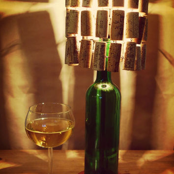 Best bottle lamp shade products on wanelo wine bottle lamp with wine cork lamp shade aloadofball Images