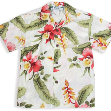 Orchid Pua Boy's Rayon Hawaiian Shirt