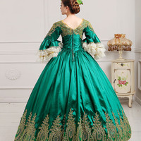 European Royal Court Dress Victorian Costume Rocco