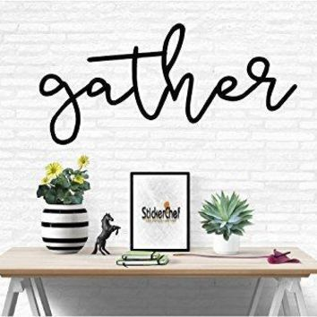 Gather Family Words Quote Home Decor Vinyl Wall Art Stickers Decals Graphics