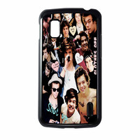 Harry Styles One Direction Collage Clothes Off Nexus 4 Case