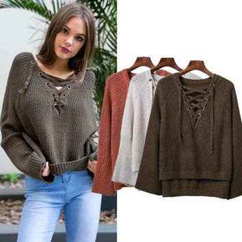 Knit Tops Sweater Winter V-neck Bottoming Shirt [31300419610]