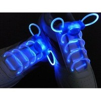 Led Shoelace Light up Shoe Flashing Blue Color 1 Pair, batteries included