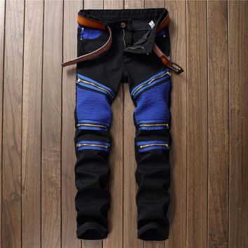 Black Fashion Men's Fashion Luxury Jeans [10766090691]