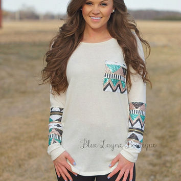 Sequin Sleeves Ivory