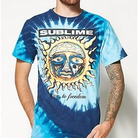 Tie Dye Sun Sublime T shirt - Spencer's