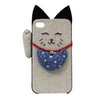 Cute Cat Handmade Plush Case For iPhone 4/4s