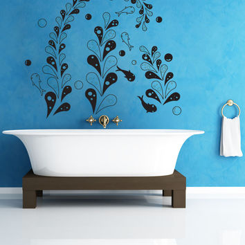 Vinyl Wall Decal Sticker Fish in the Seaweed #OS_DC333
