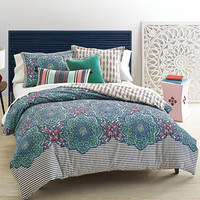 CLOSEOUT! Whim by Martha Stewart Collection Bohemian Rhapsody Reversible Blue Lagoon Bedding Collection, Only at Macy's | macys.com