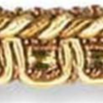 Kravet Couture Trim T30216.4 Satin Corded Gimp Gold