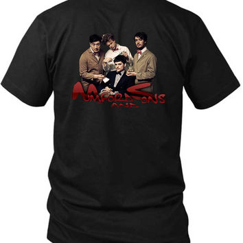 Mumford And Sons Cover 2 Sided Black Mens T Shirt