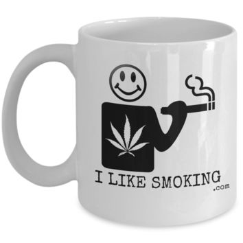 I Like Smoking dotcom Coffee Mug - Black (Front Only)