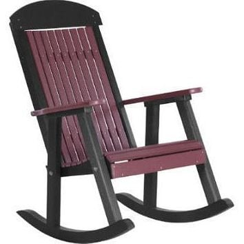 LuxCraft Classic Traditional Recycled Plastic Porch Rocking Chair (2 Chairs)