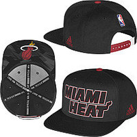 adidas Miami Heat 2013 Authentic NBA Draft Snapback Hat